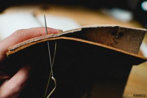 Kožený obal na deník, vlastní výroba