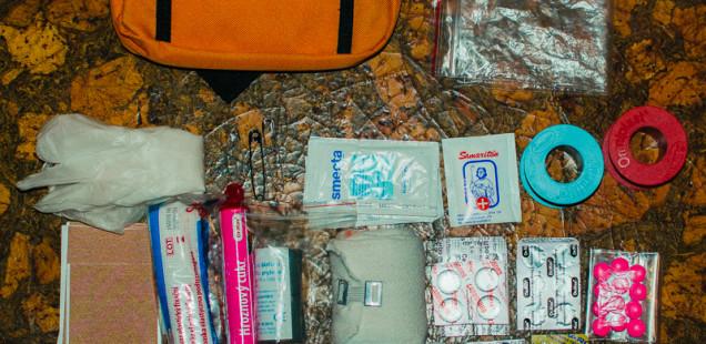 Obsah lékárničky na cesty