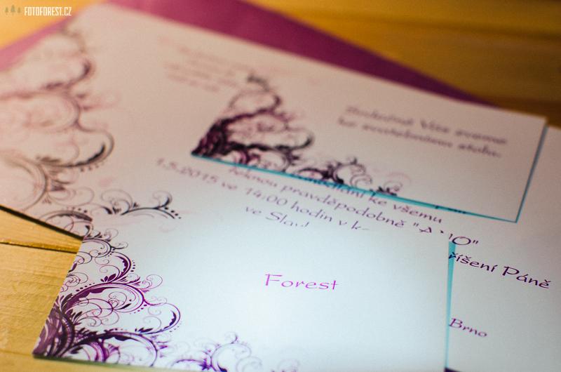 Pozvánka na svatbu a zasedací pořádek