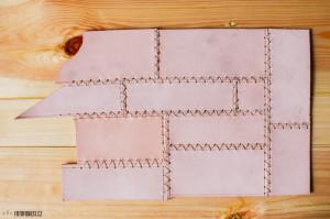 Vyrábím kožený obal na deník