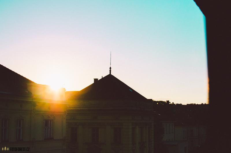 Západ slunce nad Brnem