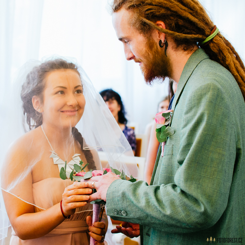 Originální svatba, obřad