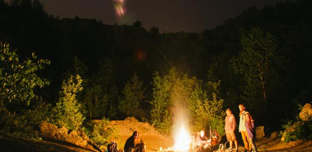 U ohně v lomu Kavky pod Hády
