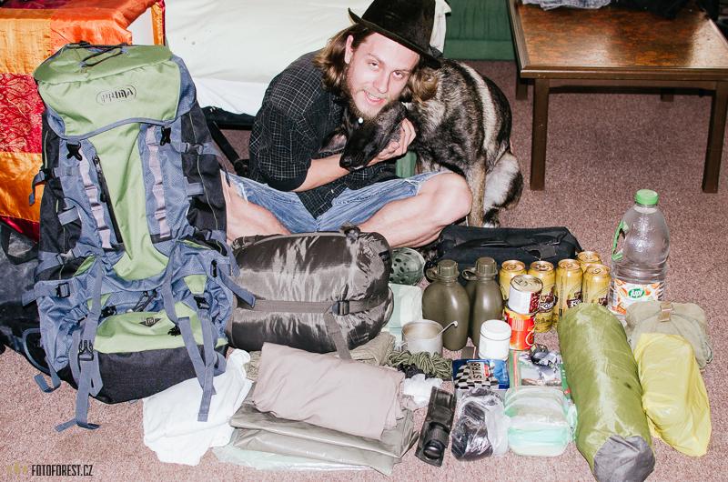 Příprava na výlet do hor