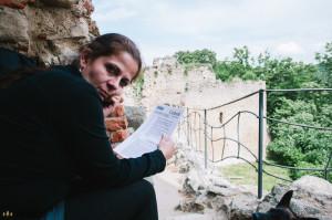 Klára na hradě Cimburk na Chřibech