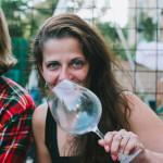 Klára s vínem