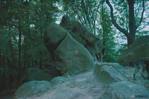 Komínské skály na Chřibech