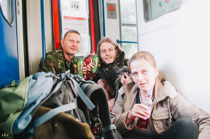 Ve vlaku cestou z vandru