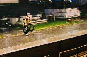 Déšť ukončil závod