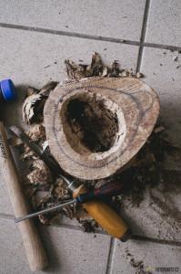 Výroba dřevěného hrnku kuksy