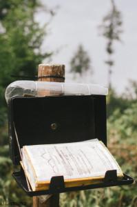 Vrcholová kniha Útěchovské vrchy