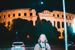 Amfiteátr v Pule v noci