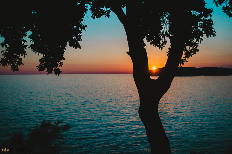 Západ slunce v Chorvatsku