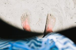 Písčitá pláž v Medulin Chorvatsko