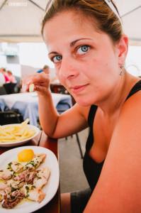 V restauraci Orfej v Pule