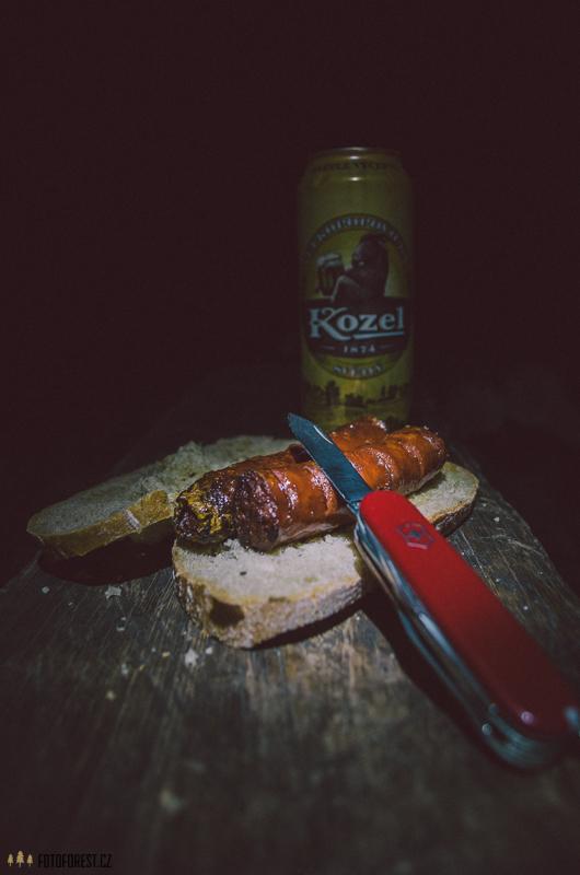 Moje večeře v lese