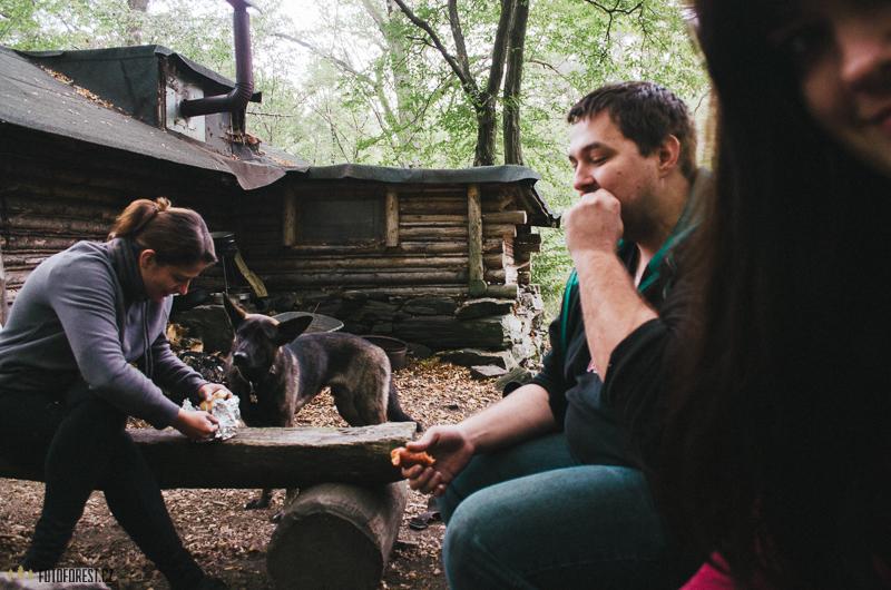 Snídaně v lese