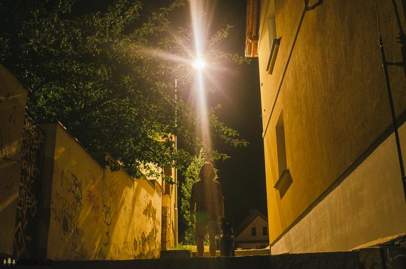Noční uličky v Náměšti nad Oslavou