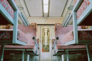 Autoportrét ve vlaku