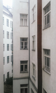 Výhled z okna našeho pokoje