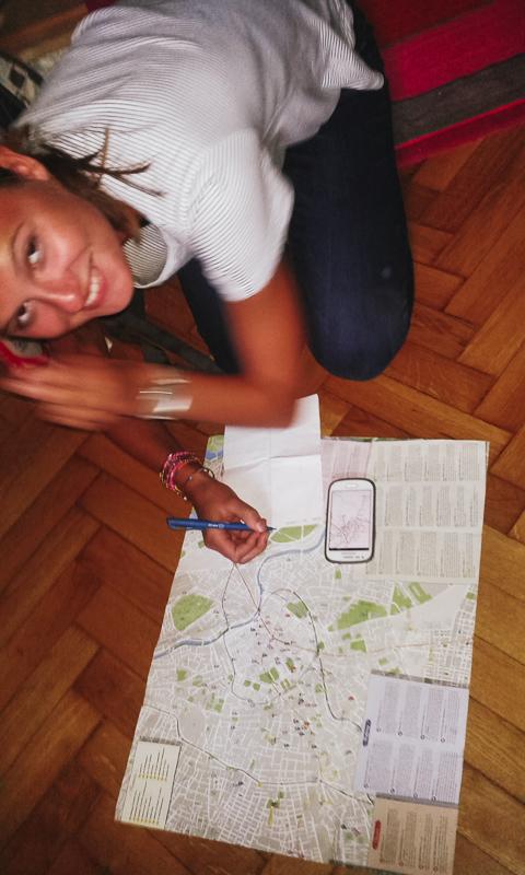 Radka plánuje cestu z Vídně do Brna