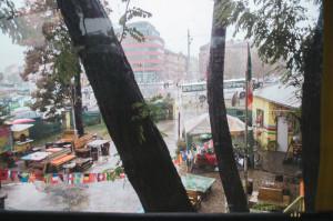 Prší na Dráze Brno