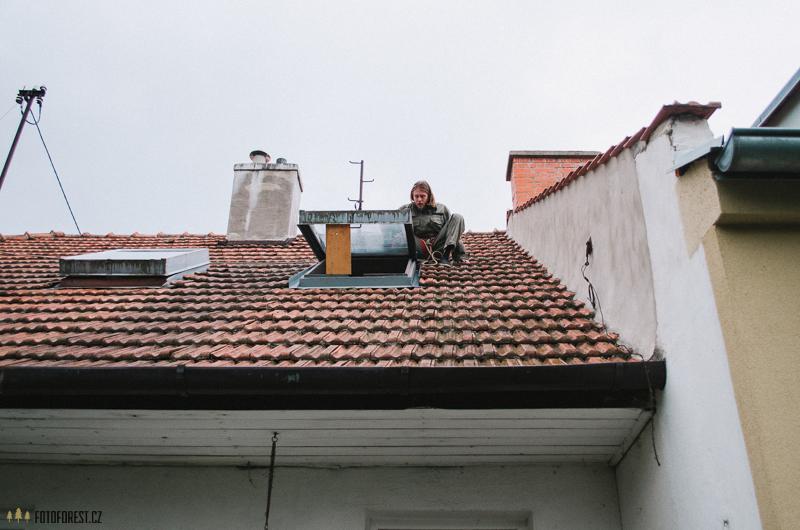 Oprava těsnění střešního okna