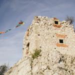 Na zřícenině hradu Dívčí hrady