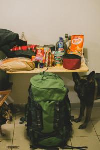 Sbalený batoh na přechod Jeseníků