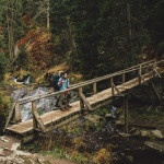 Turista v Údolí Bílé Opavy v Hrubém Jeseníku