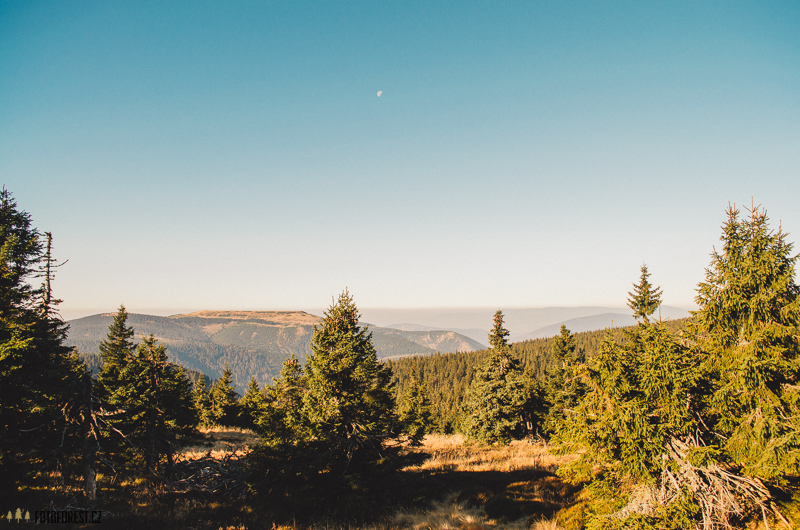 Panorama na Pradědu v Jeseníkách