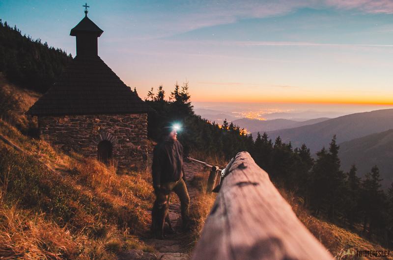 Spaní na Vřesové studánce v Jeseníkách