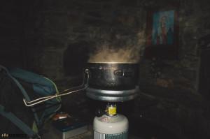 Vaření čaje na vařiči Var 2