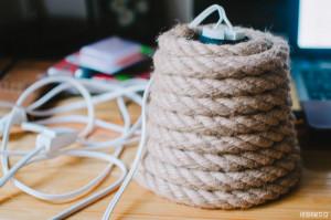 Výroba lampičky z lana