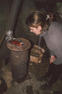 Vaření ve srubu