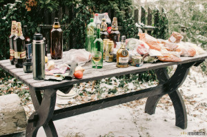 Zásoby alkoholu na chatě