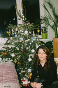Klára u stromečku