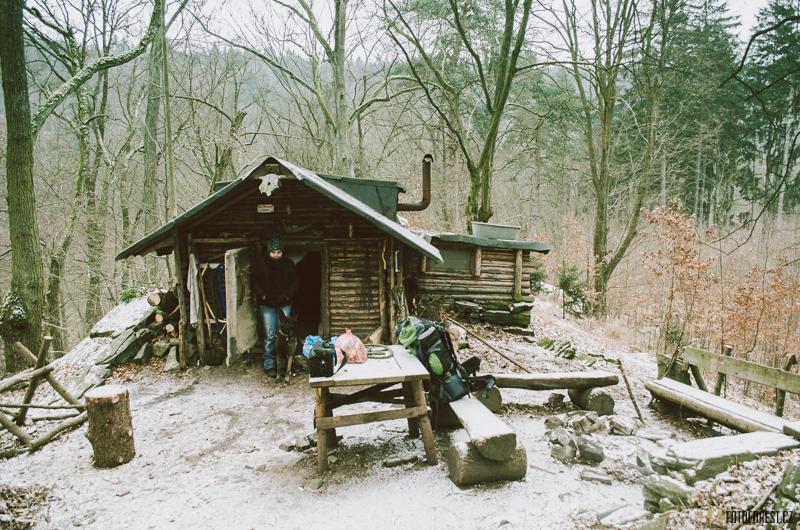 Zima na Oslavě v boudě