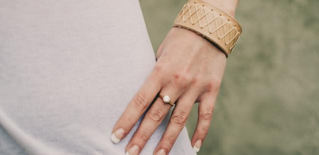 Dámský kožený náramek na ruku, výroba