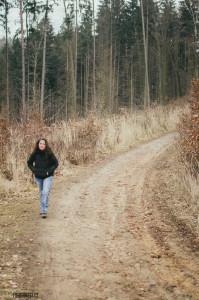 Klára v soběšickém lese