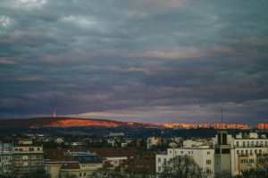 Západ slunce Hády Brno