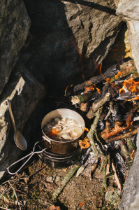Snídaně na ohni