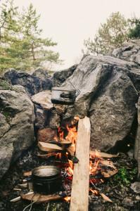Oheň v lomu Čebín
