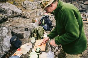 Polní kuchyně - vaření v lese