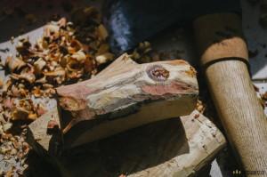 Dřevo na ručku nože