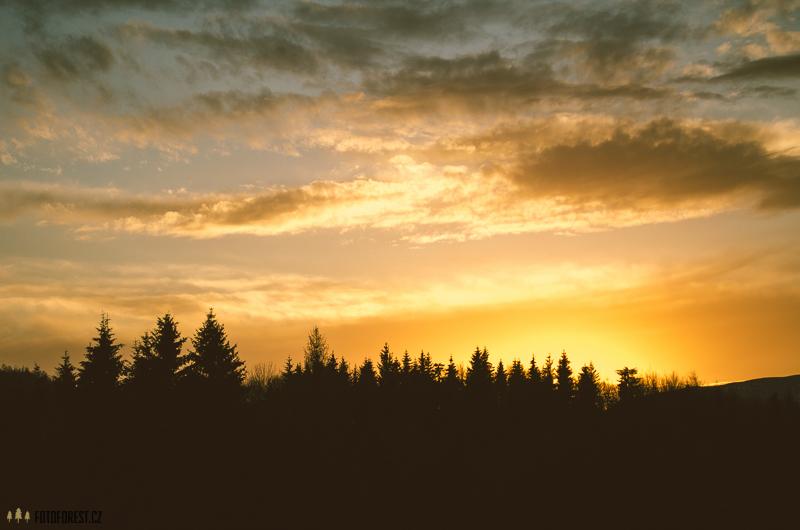 Západ slunce nad Tatrami