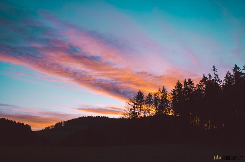 Východ slunce na Tatrami
