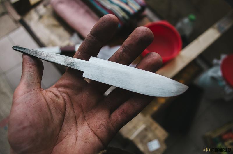 Broušení výbrusu nože