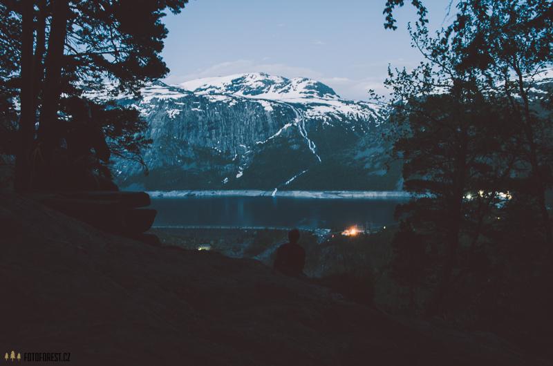 Výhled na jezero Tyssedal