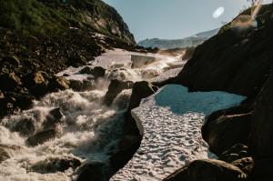 Buerbreen glacier